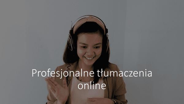 Profesjonalne tłumaczenia online